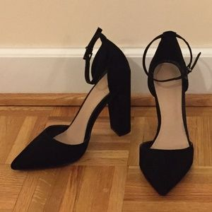 Stylish ASOS pumps with ankle strap - US6/UK4